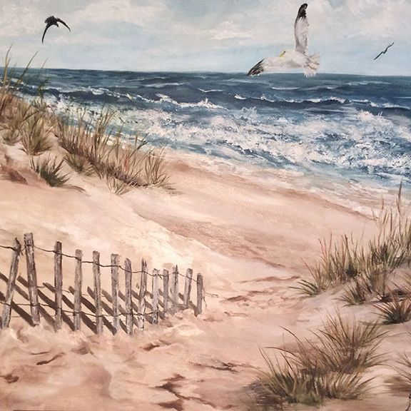 "SBaeckmann - The Fence  24"" x 18"" Oils  Framed"