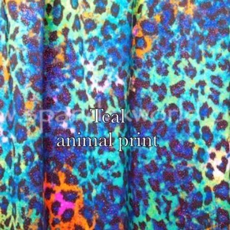 Green blue animal print