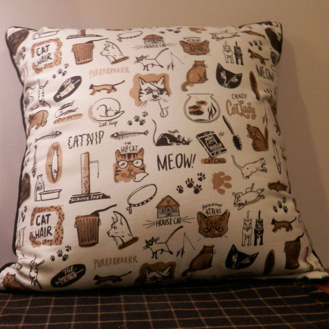 cat decorative pillow