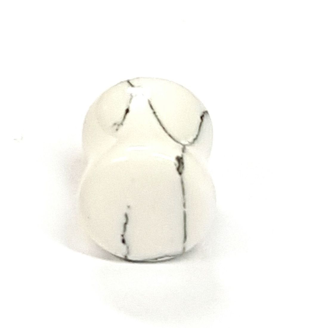 Howlite stone ear plug  available at Kazbah online or our Leicester City Centre store