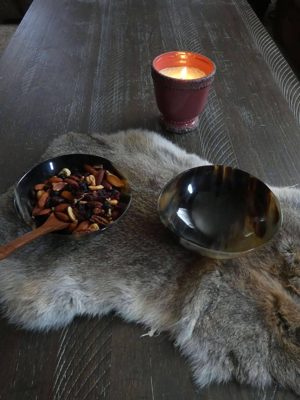 Horn Bowl, Viking Age, Offering Bowl, Viking Bowl , Shield Ravens