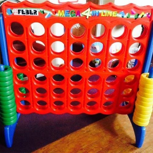 Giant connect four carnival back yard kids