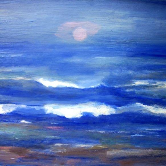 Waves acrylic on canvas 18 x 24 $200