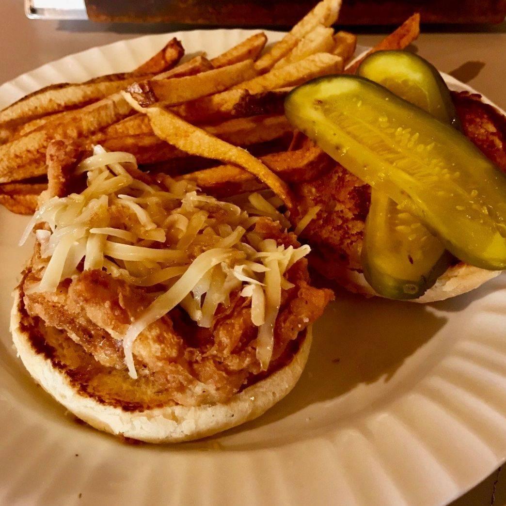 Bourbon Fried Chicken Sandwich