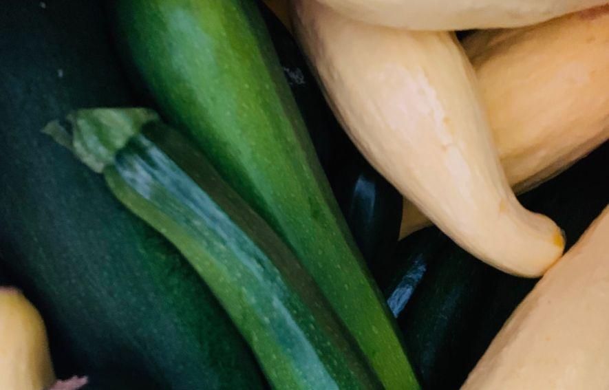 Zucchini and yellow squash.