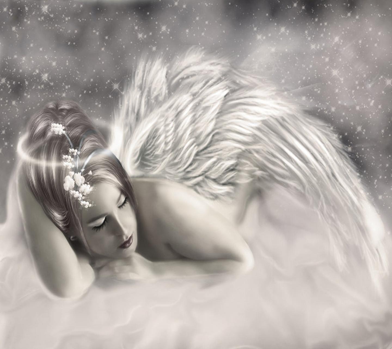 Открытку, открытки спящий ангел