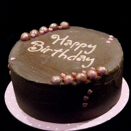 Buttercream rosette cake. Multicoloured rosettes with