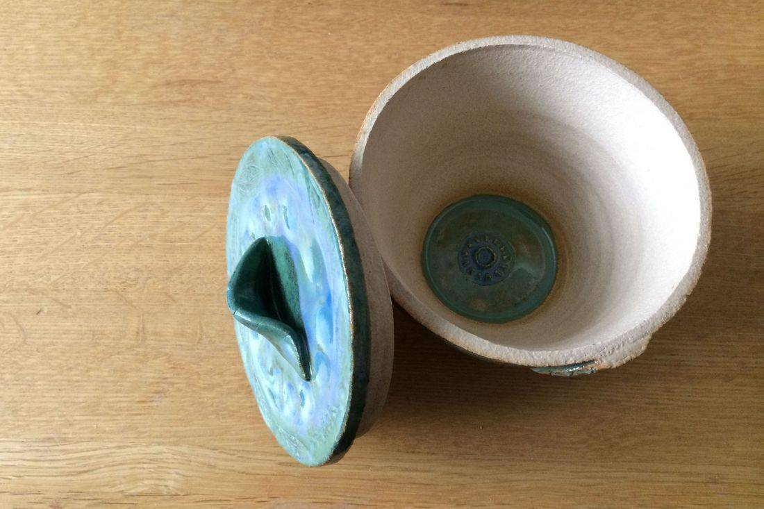 Ingrid Johannesson, Ingrid, Johannesson, clay, ceramic, colebrookestoneandclay, colebrooke,clay, bowl, leaf, lid
