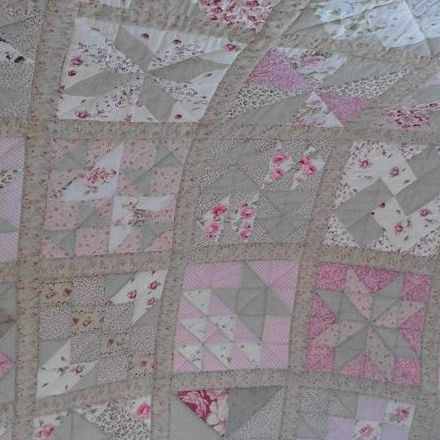 Pinks and greens Sampler Quilt