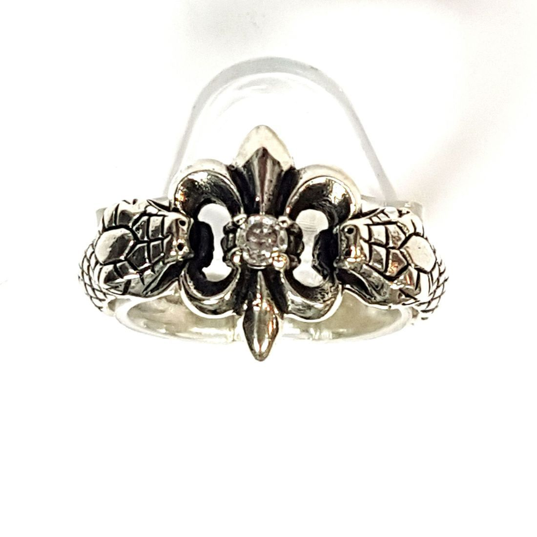 One Stone Fleur-de-lis  Ring  available at Kazbah online and our Leicester City Centre shop