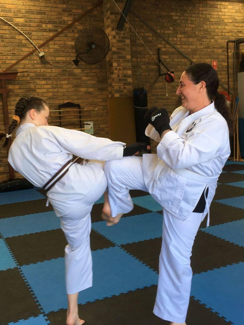 Women enjoying Martial arts
