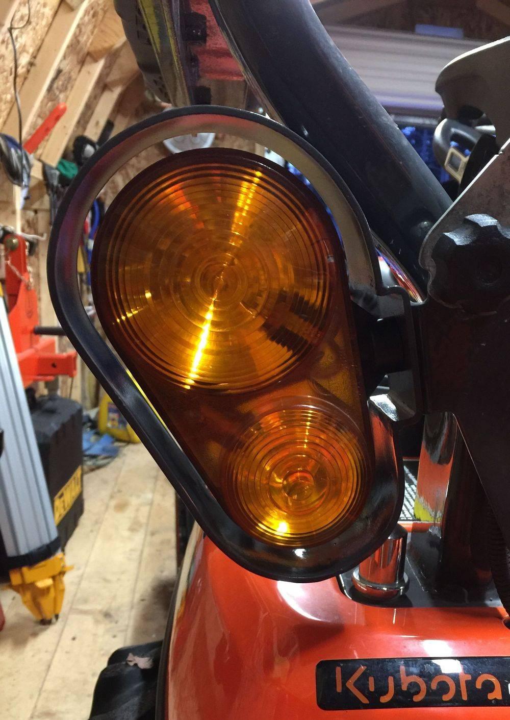 Kubota tractor light guards. BX light guards