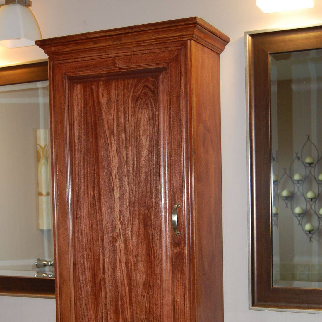 Shiny brown cabinet