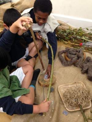 Stone Age Workshop for schools KS1 KS2