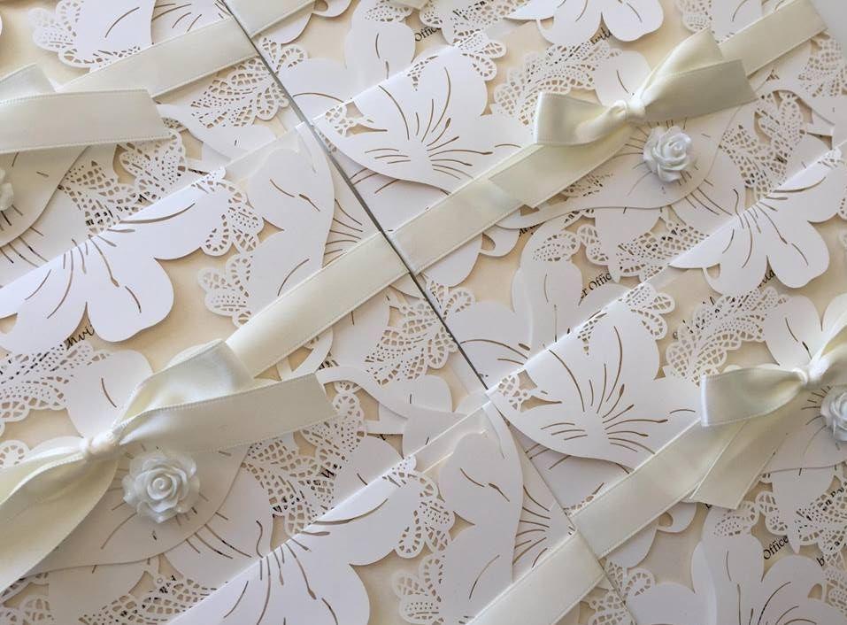 lasercut wedding invitation, wallet invitations, wedding invitations