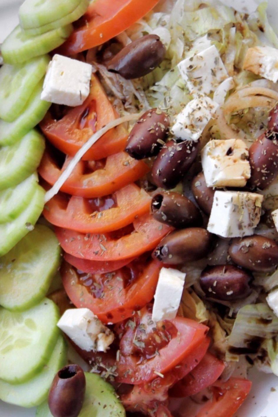 Greek Salad Kebab Souvlaki Gyro Yiro