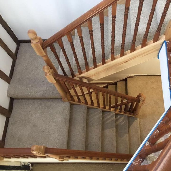 Double Stairs beige Carpet