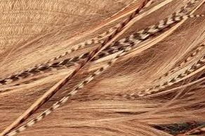 Natural Rooster Feather Hair Extensions