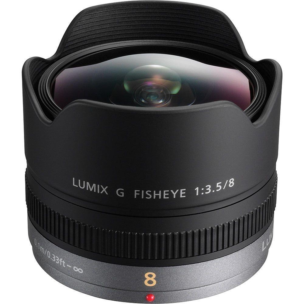 Panasonic H-F008 Lumix 8mm F3.5 4/3 Lens