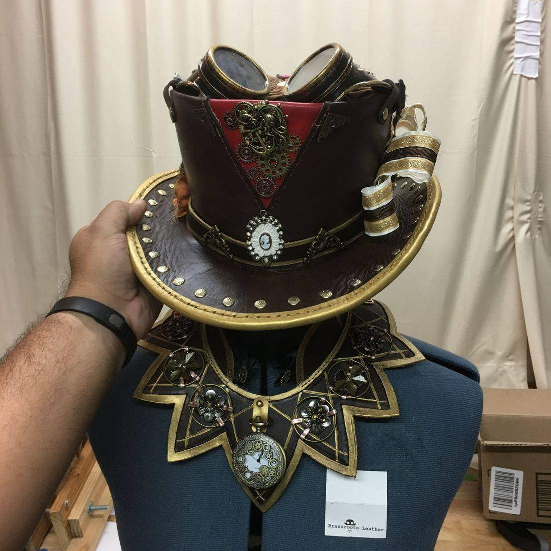 Steampunk Ladies Top Hat