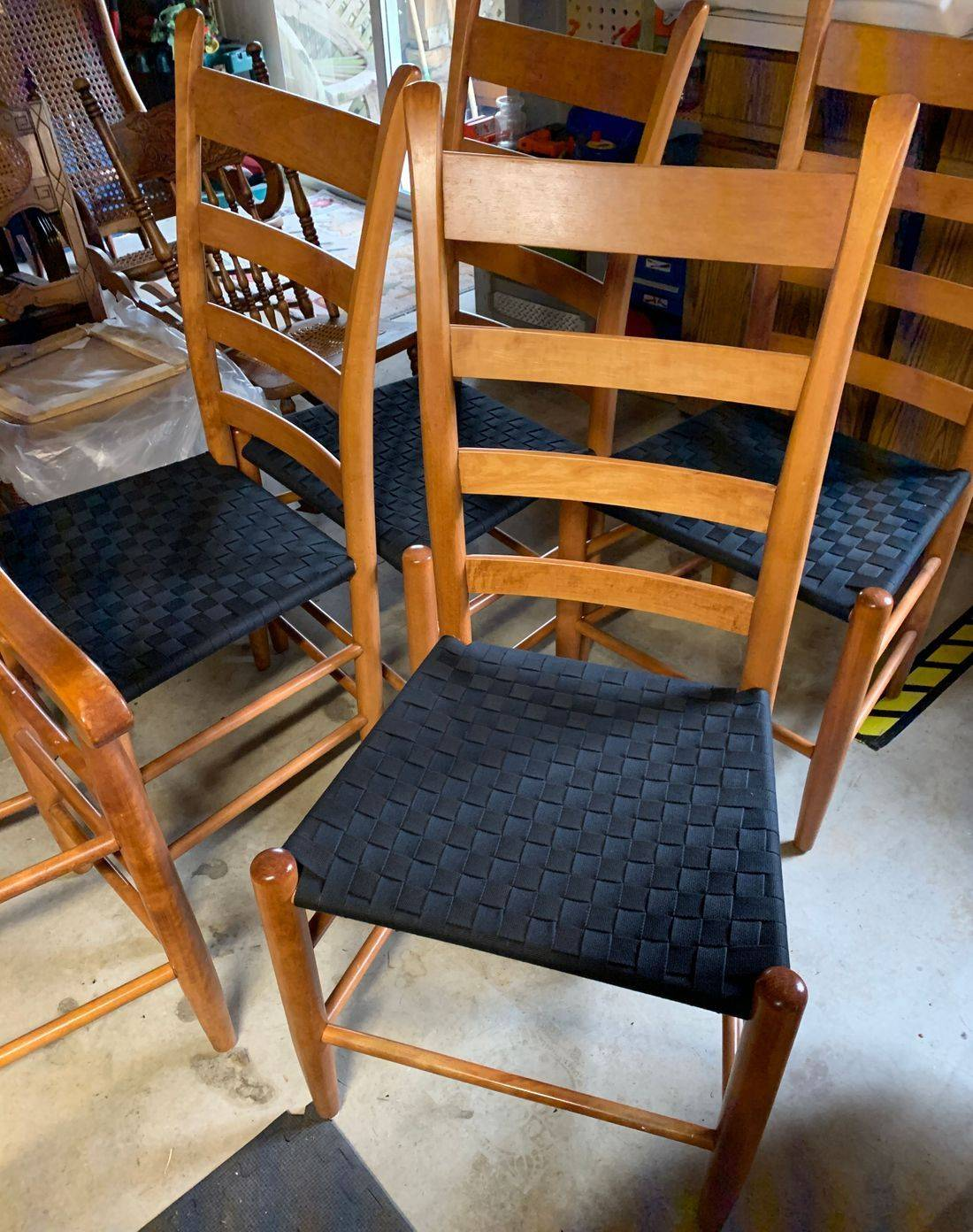 Seat Weaving with Shaker Tape