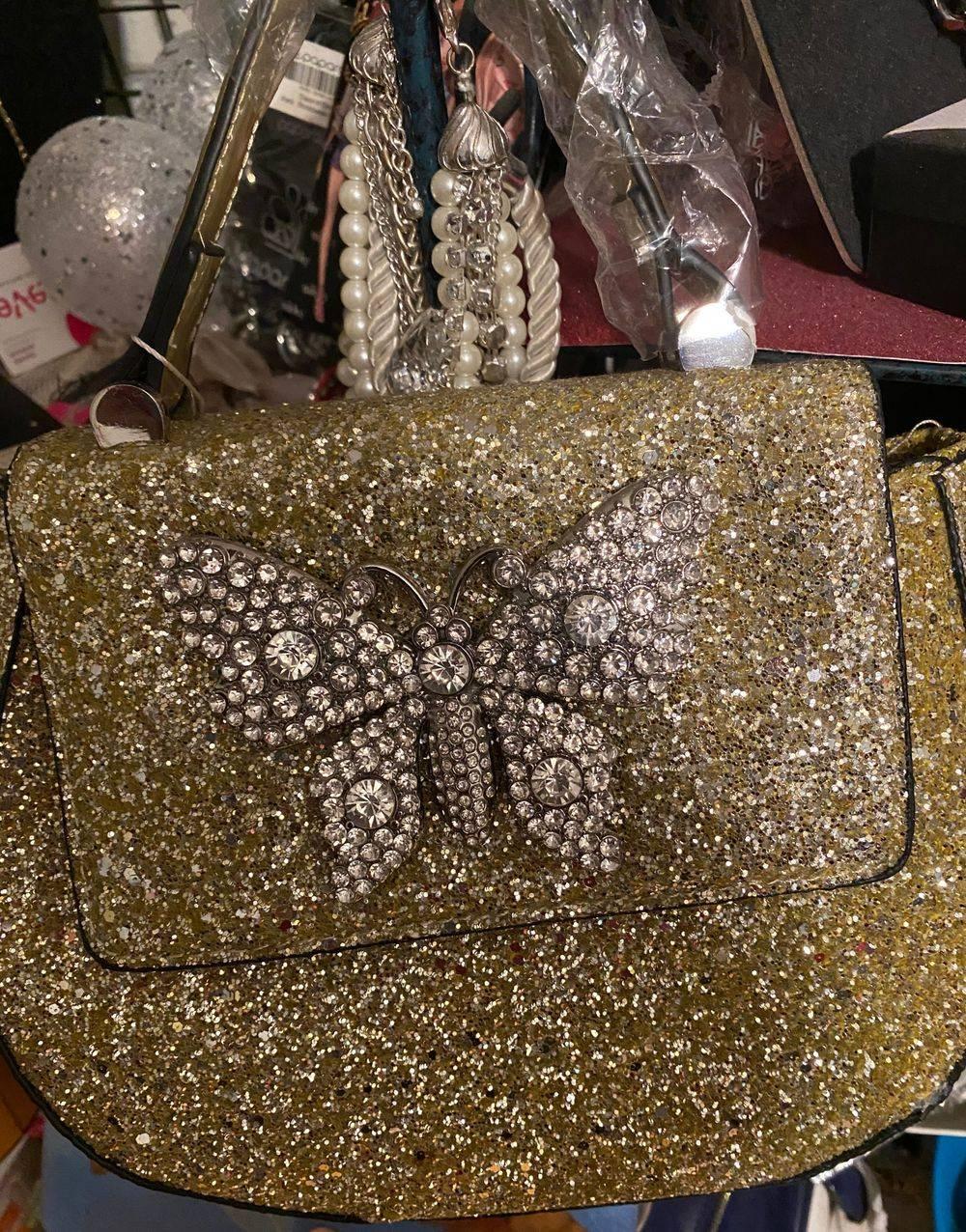 Gold Glitter Bag