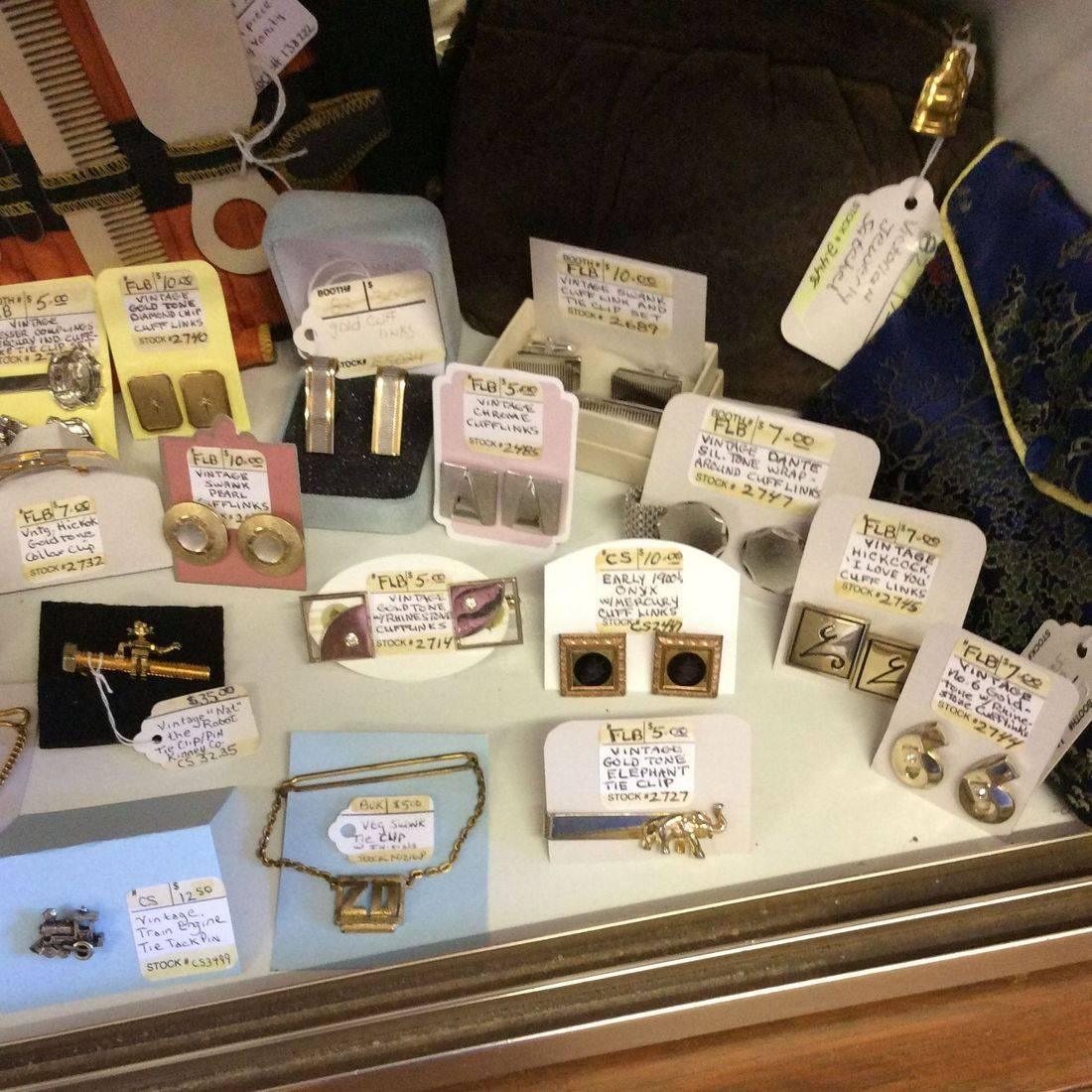 Vintage Cuff Links and Tie Clips - $5.00 to $35.00