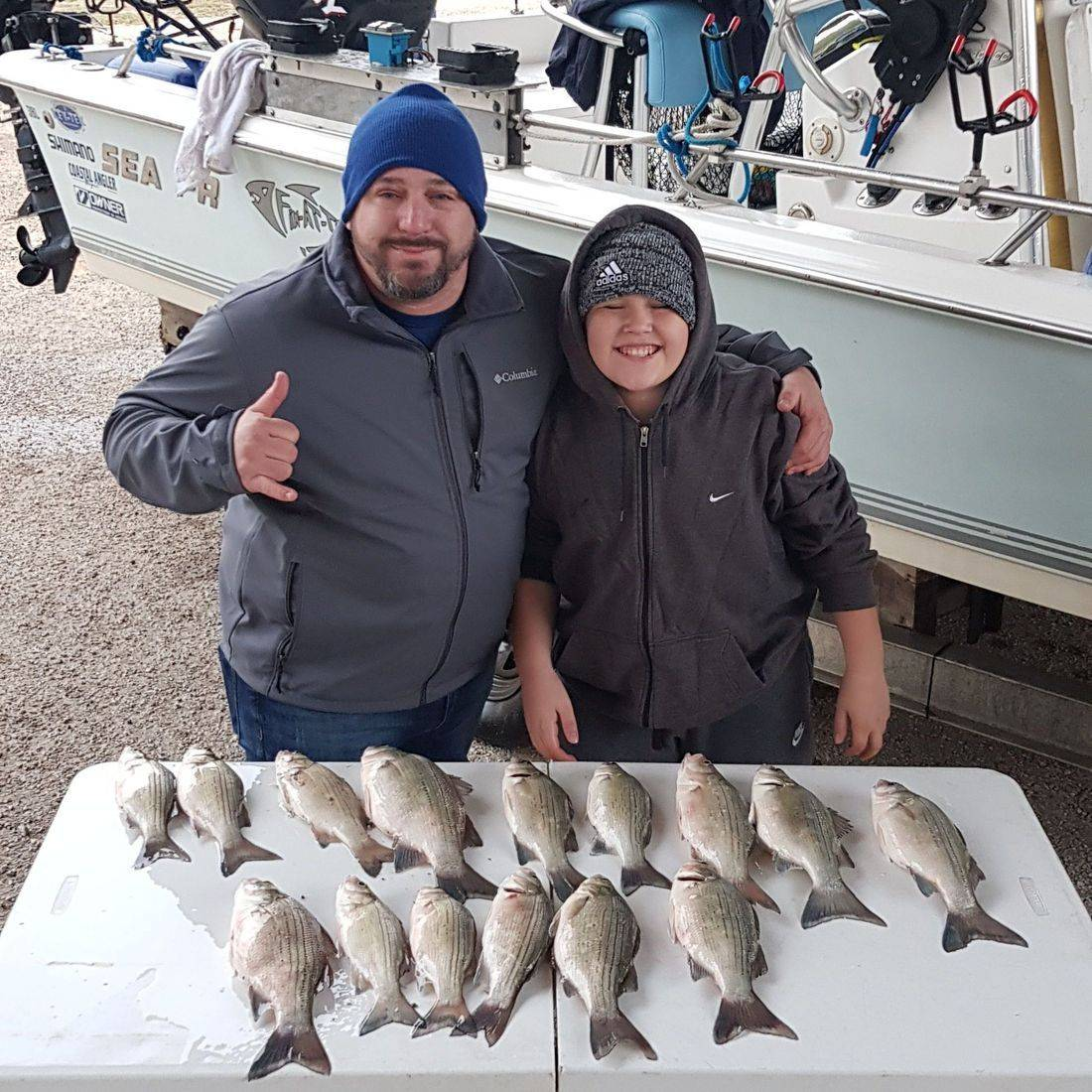 San Antonio Fishing, Canyon Lake Fishing, White Bass Fishing