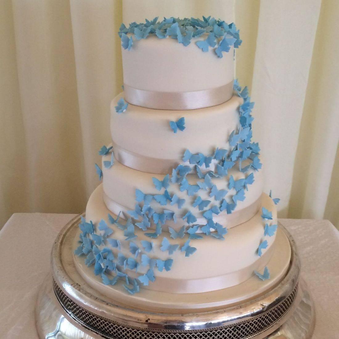 Butterfly Cascade Wedding cake Fabu-Lous cakes