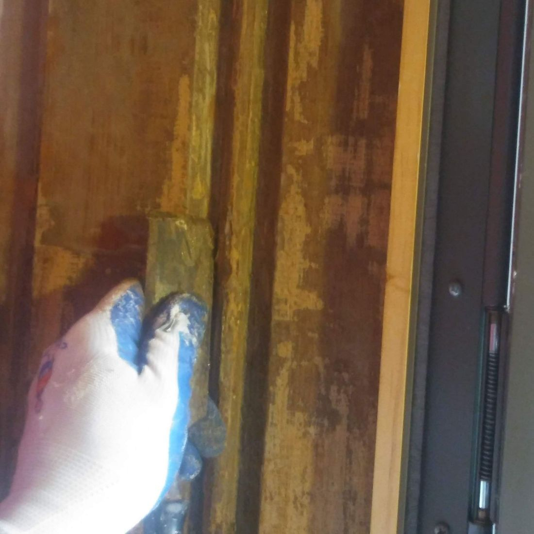 front door refinishing and restoration, Cincinnati Ohio, Scott Fritz Wall Creations