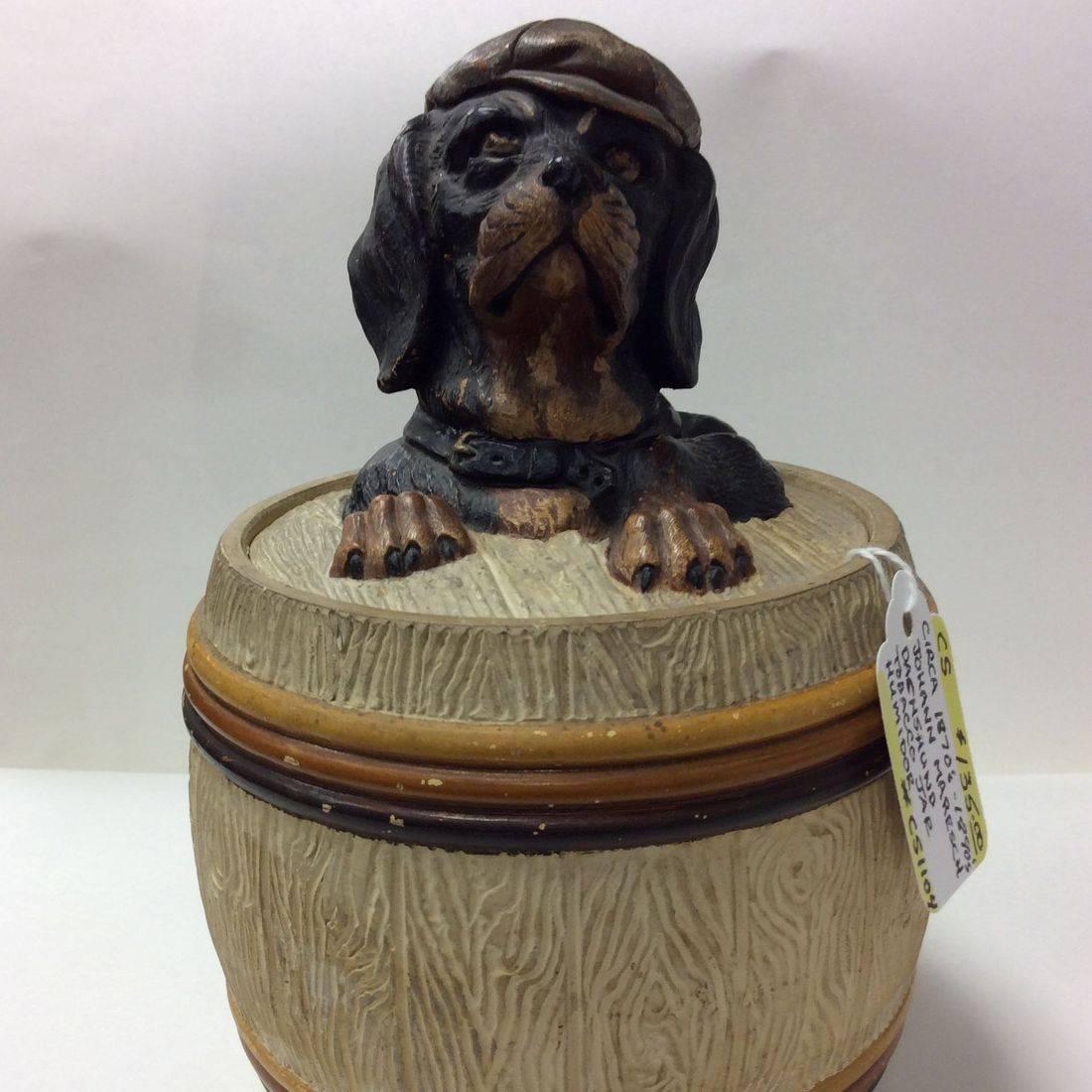 1870's-1890's Johann Maresch Dachshund Tobacco Jar Humidor  $135.00