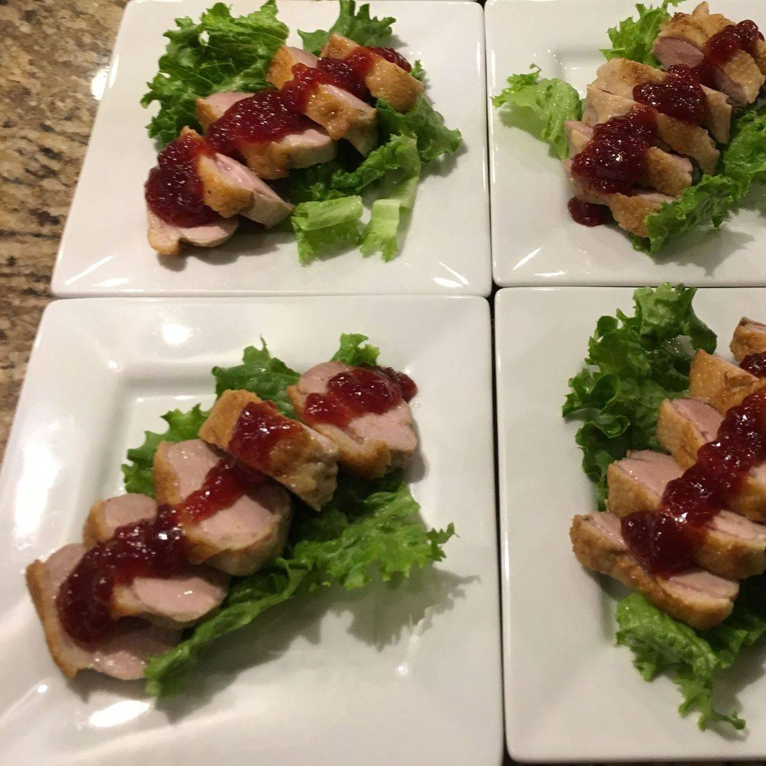 Duck Breast with Cranberry Apricot Chutney