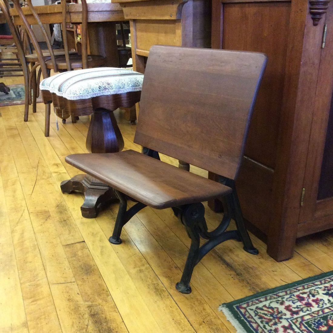 "1900 - 1930 Small Child's Desk Chair w/ Folding Seat  18""W x 17""D x 24""H   ( Seat 12-1/2""H )   $60.00"