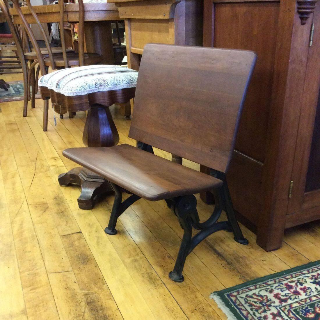 "1900 - 1930 Small Child's Desk Chair w/ Folding Seat  18""W x 17""D x 24""H   ( Seat 12-1/2""H )   $60.00"
