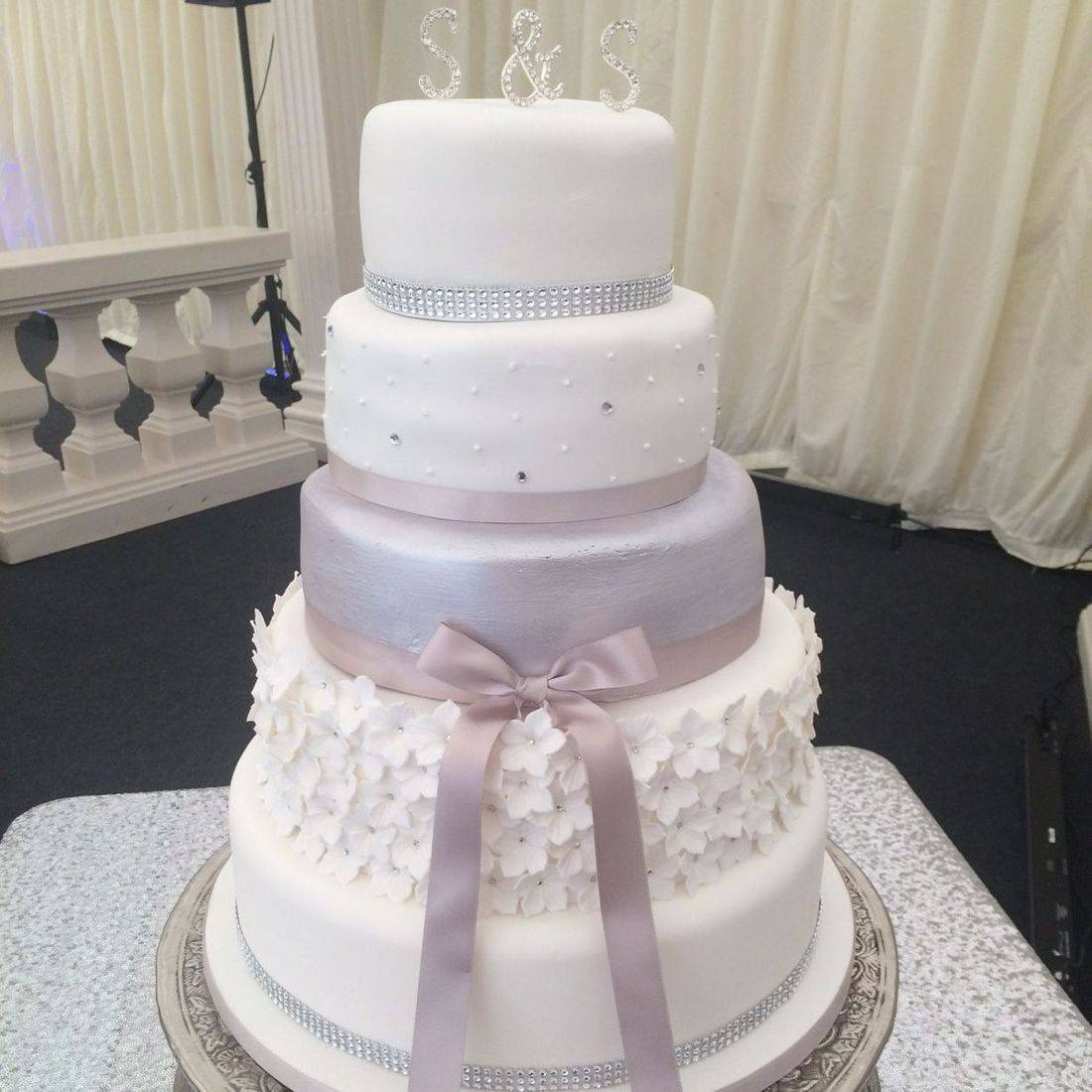 Frills Bling Diamante Wedding cake Fabu-Lous Cakes