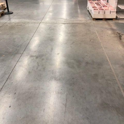 Interior floor of big box store