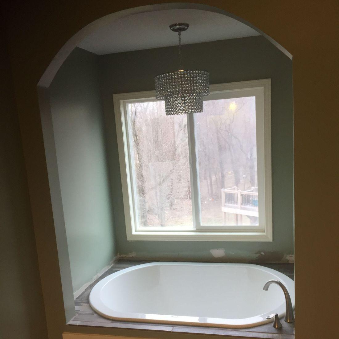 tub installation  + arch