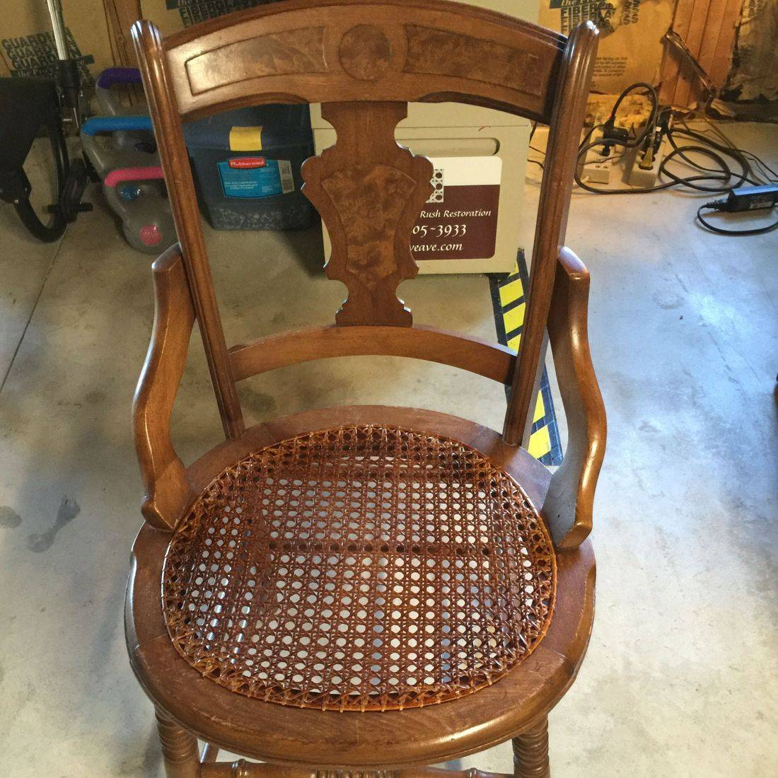 Antique Hip Rest Chair done by Hank's Cane & Rush Restoration