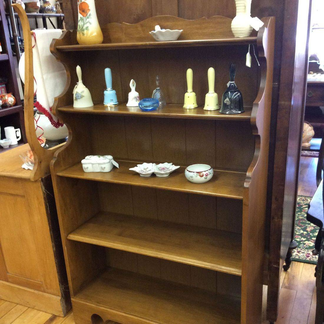 "Mid Century Modern Maple 5-tier Bookcase w/Adjustable Shelf  32""W x 11-1/4""D x 52""H   $150.00"
