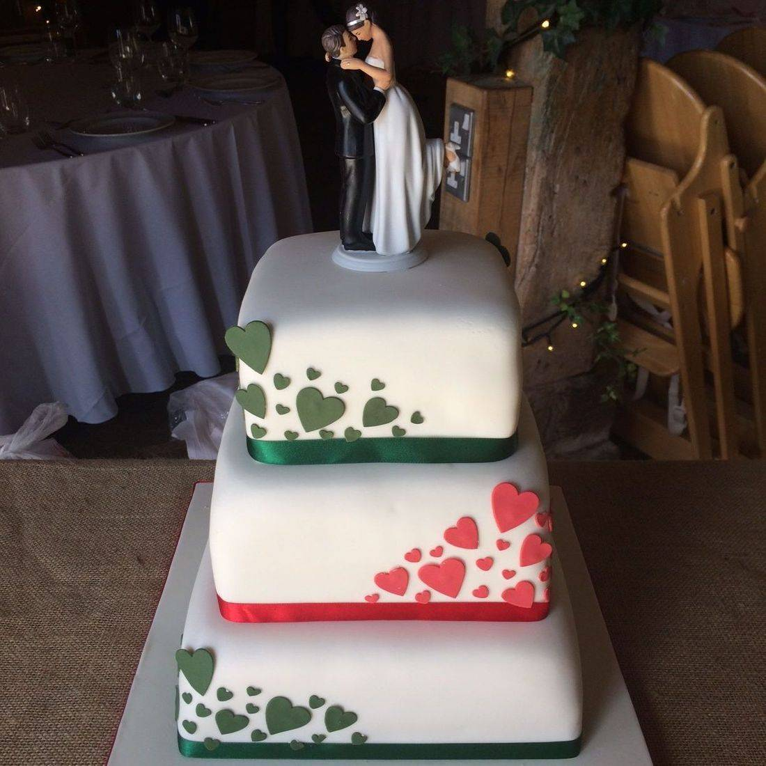 Love is in the air Wedding Cake Fabu-Lous Cakes