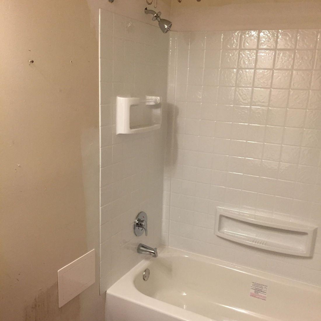 New Tub & Glue Up Tub Surround Installation