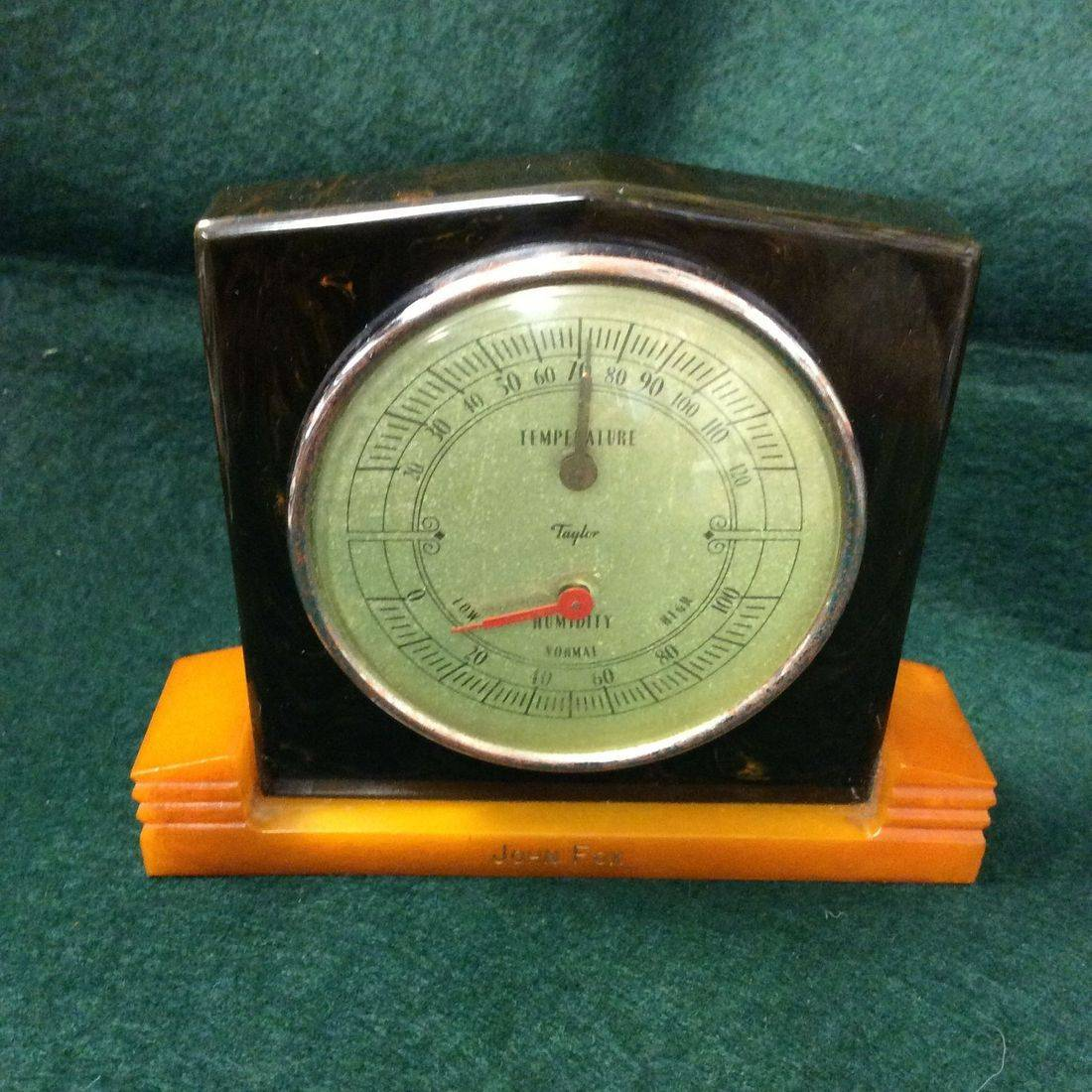 1930's/40's Taylor, Bakelite and Catalin, Desktop Weather Station   $135.00