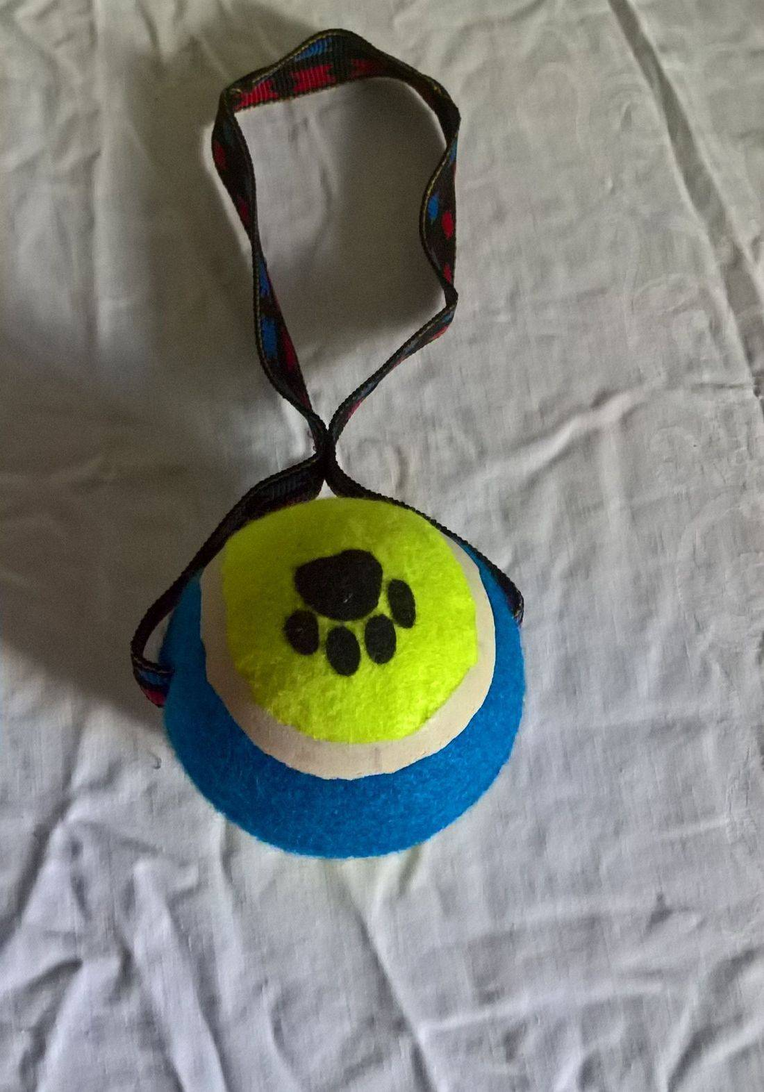 Dog ball on a rope