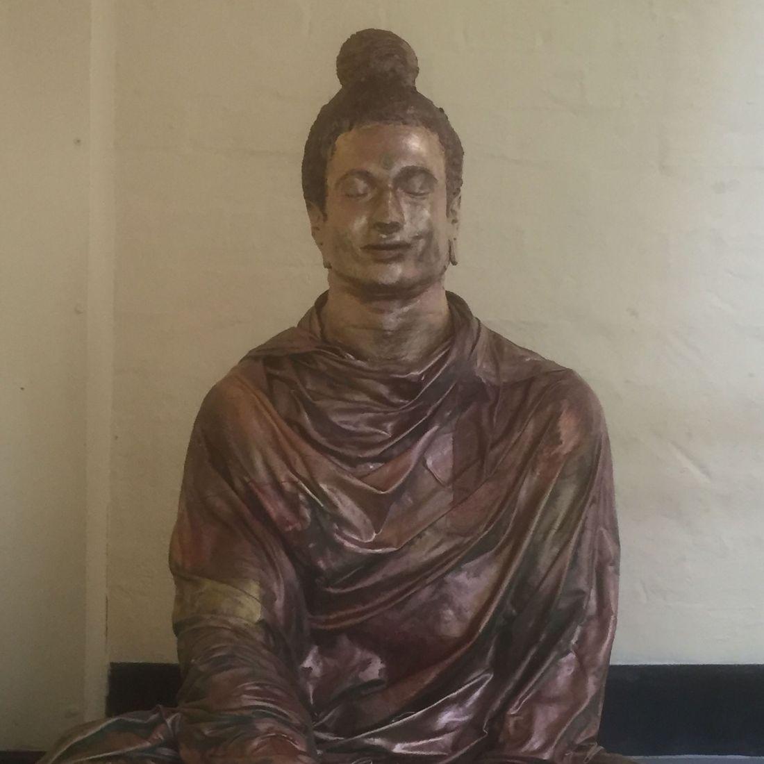 Earthmoves Buddha rupa statue Liverpool Buddhist sacred sculpture Shakyamuni