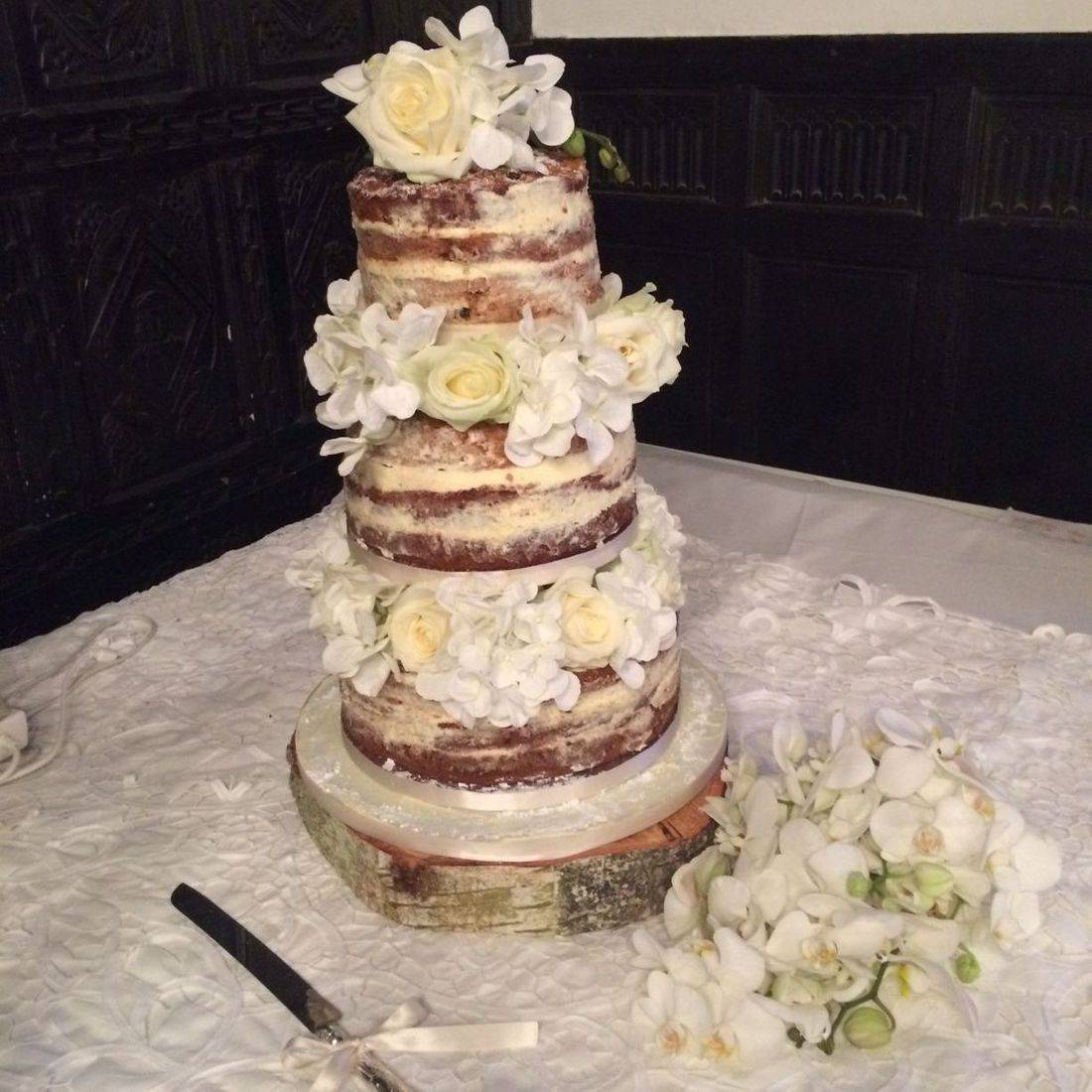 Naked wedding Cake Fabu-Lous Cakes