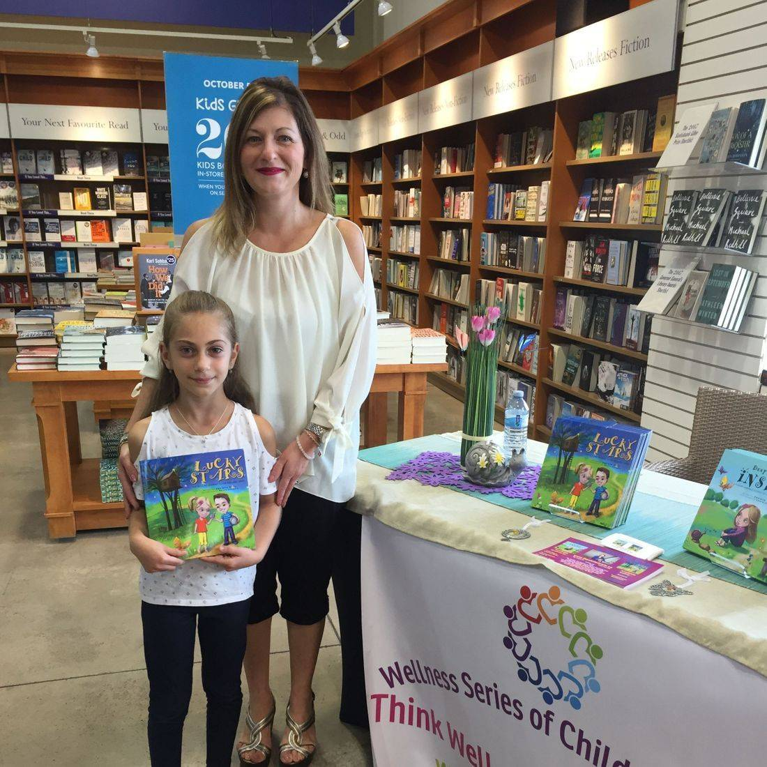 Indigo Burlington October 2017 Book Signing Event for Deep Down Inside and Lucky Stars with Author Daniella Grsic