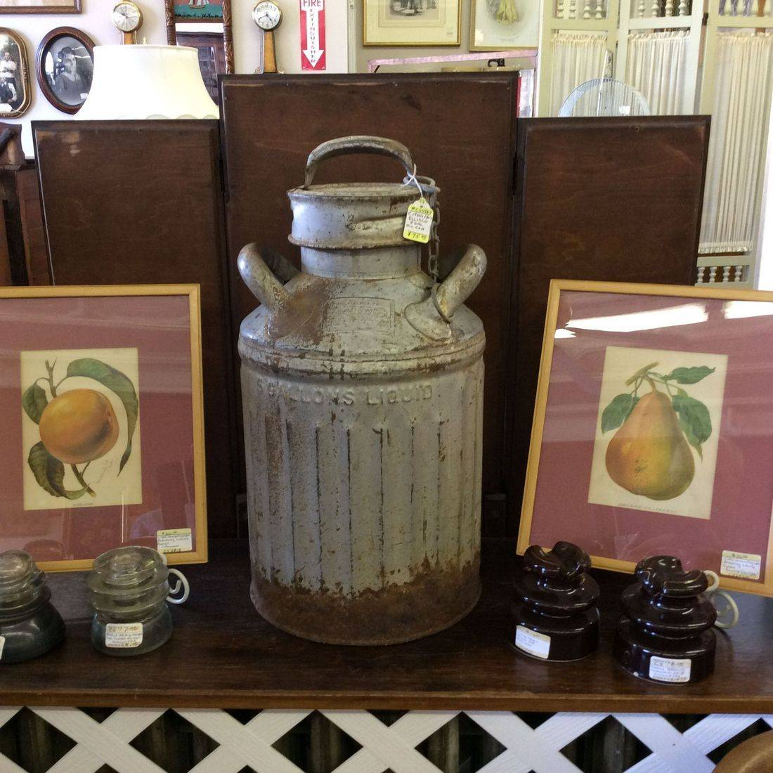 C. 1920's/30's Ellisco  5-Gallon Oil Can   $75.00