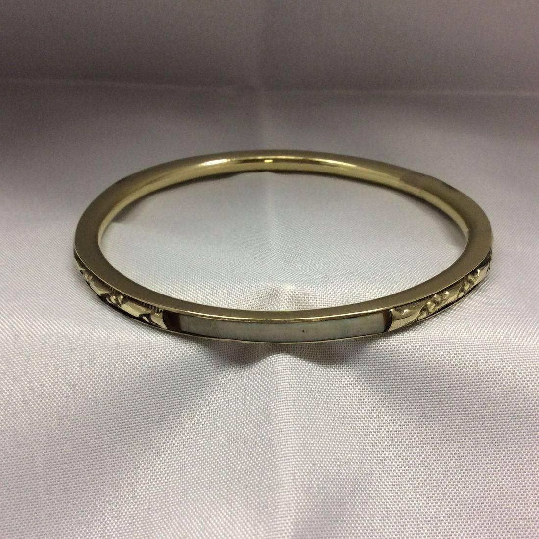 Vintage Brass, & Mother of Pearl  Bracelet  $38.00