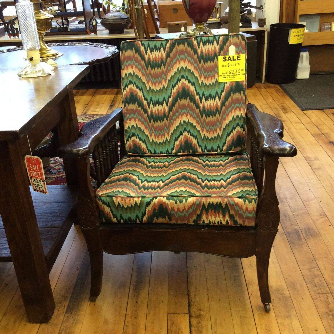 1890-1910 Morris Recliner w/Updated South Western Upholstered Cushions   $275.00