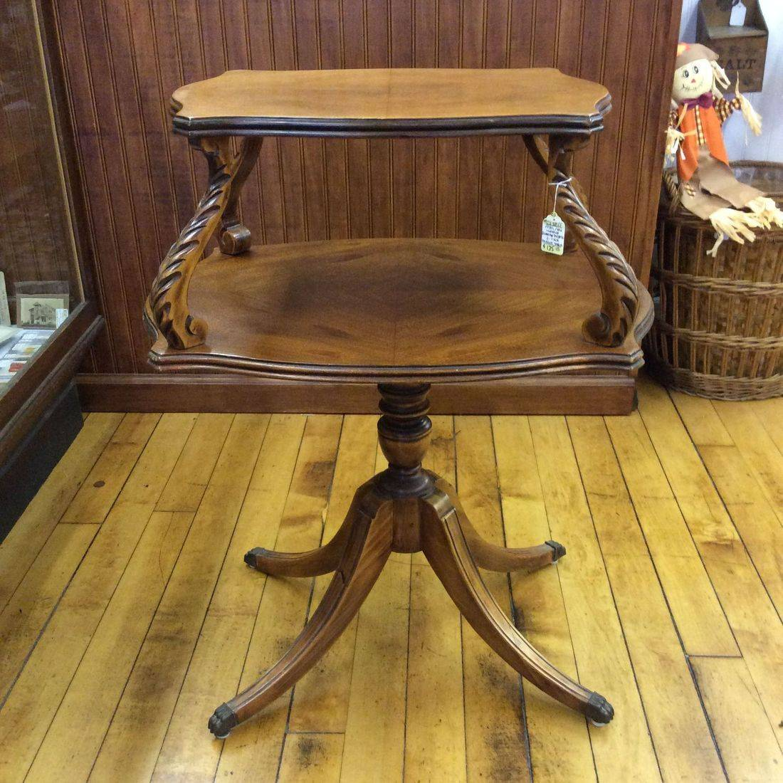 C. 1930's/40's Unique Duncan Phyfe 2-tier Parlor Table  $135.00